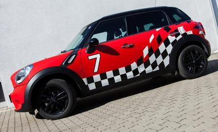 Car Wrapping - Mini Countyman Raceflag beklebung